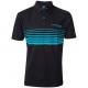 Drennan Black Aqua Polo Shirt